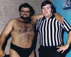 Skandor Akbar and Jim Ross